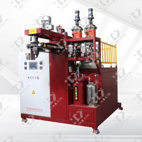 High temperature elastomer pouring machine